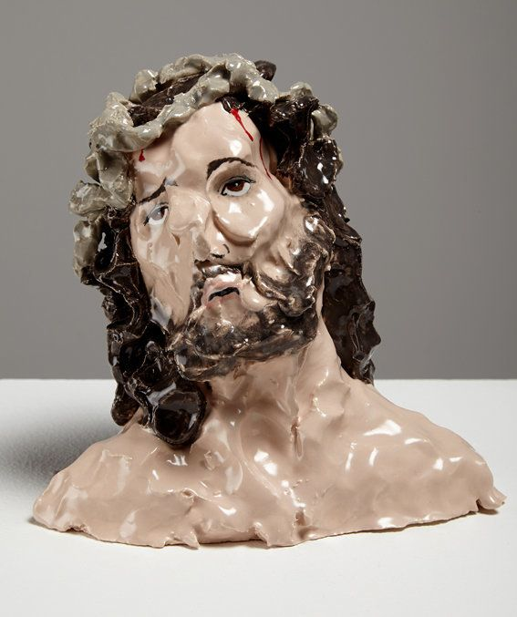 Jesus Christ, 2014, 15.5 x 16.5 x 10, ceramic