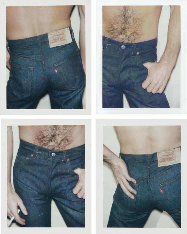 LOT 4, ANDY WARHOL (1928-1987), Blue Jeans, four unique polaroid prints each: 4¼ x 3 3/8 in. (10.8 x 8.6 cm.), Executed in 19