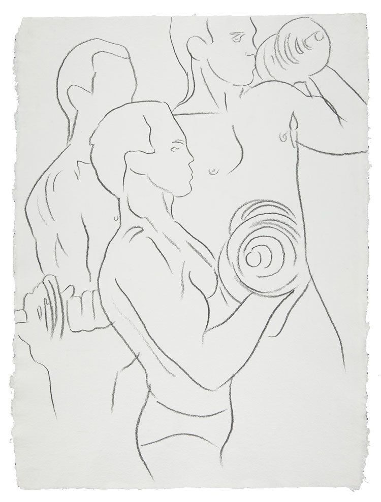 LOT 33, ANDY WARHOL (1928-1987), Bodybuilder, graphite on paper, 31½ x 23½ in. (80 x 59.7 cm.), Drawn circa 1982. © The Andy