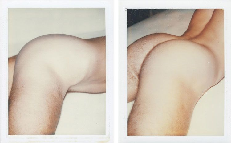 LOT 8, ANDY WARHOL (1928-1987), Nude Male Model, two unique polaroid prints each: 4¼ x 3 3/8 in. (10.8 x 8.6 cm.), Executed c