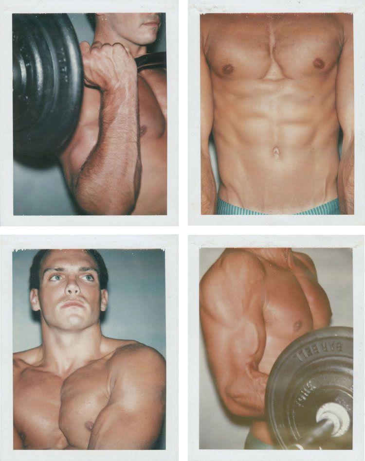 LOT 68, ANDY WARHOL (1928-1987), Body Builder (Keith Peterson), four unique polaroid prints, each: 4¼ x 3 3/8 in. (10.8 x 8.6