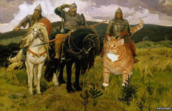 "Based on Viktor Vasnetsov's ""<a href=""http://allart.biz/photos/image/Bogatyrs_1898.html"" target=""_blank"">Heroes</a>"""