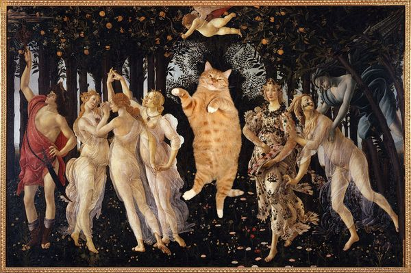 "Based on Sandro Botticelli's ""<a href=""http://www.uffizi.org/artworks/la-primavera-allegory-of-spring-by-sandro-botticelli/"""