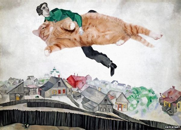 "Based on Marc Chagall's ""<a href=""http://www.marcchagall.net/over-the-town.jsp"" target=""_hplink"">Over the Town</a>"""