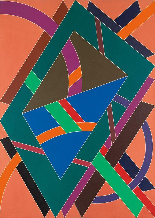 William T. Williams, Truckin, acrylic on canvas, 1969. Estimate $75,000 to $100,000.