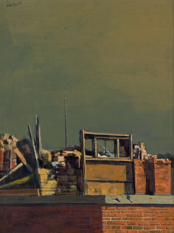 Hughie Lee-Smith, Rooftops, oil on canvas, 1961. Estimate $25,000 to $35,000.
