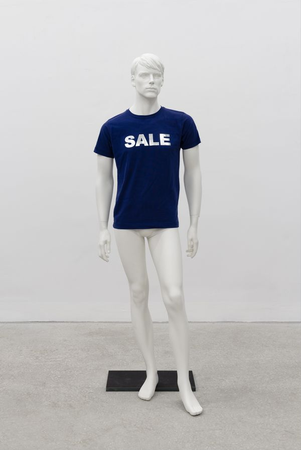 Heimo Zobernig, Untitled, Silkscreen, Linen, Polyester and Steel, 2011, courtesy of the artist and Petzel, New York.