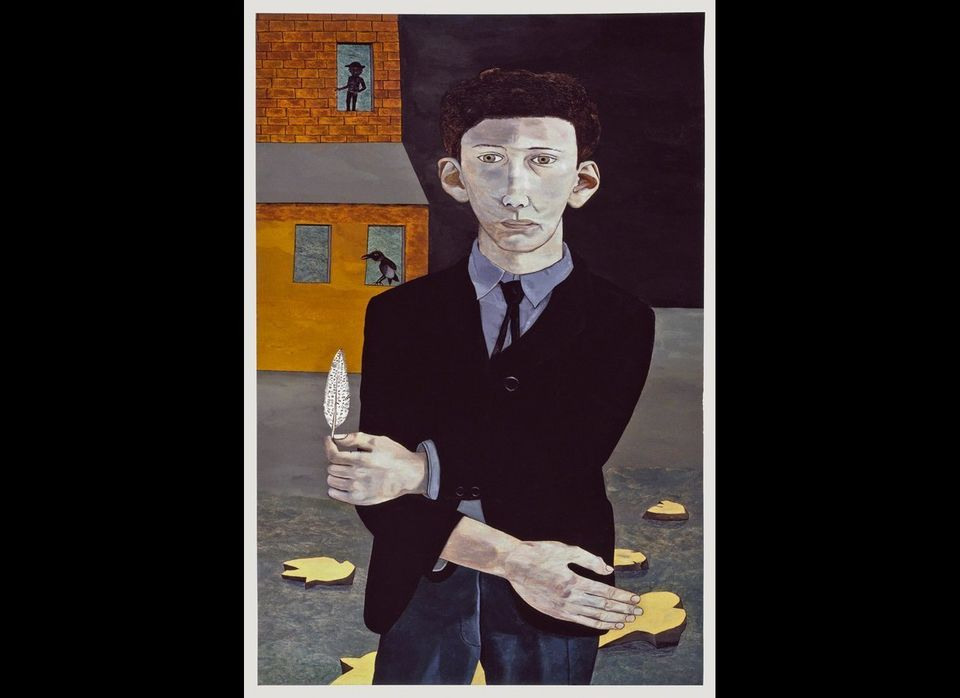 Man with a Feather (Self-portrait), 1943 Private Collection © Lucian Freud. Image: Courtesy Lucian Freud Archive