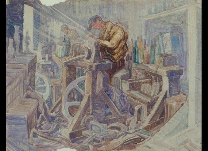 In addition to painting scenes of the religious community, Rynecki also loved to paint everyday life. He was particularly dra