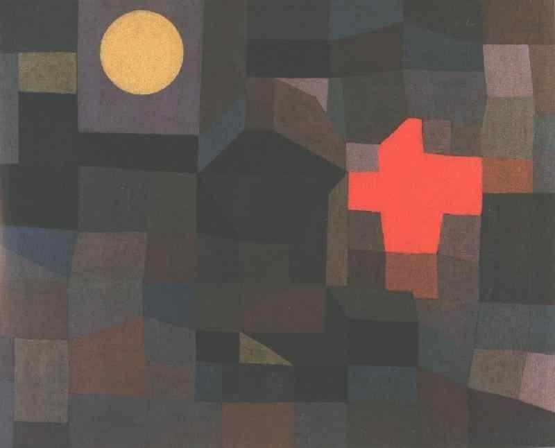 """Paul Klee, """"Fire, Full Moon,"""" 1933"""