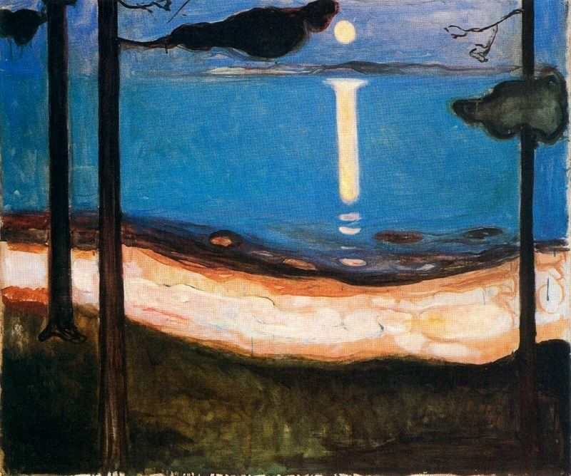 """Edvard Munch, """"Moon Light,"""" 1895"""