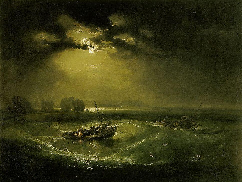 "William Turner, ""Fishermen at Sea,"" 1796"