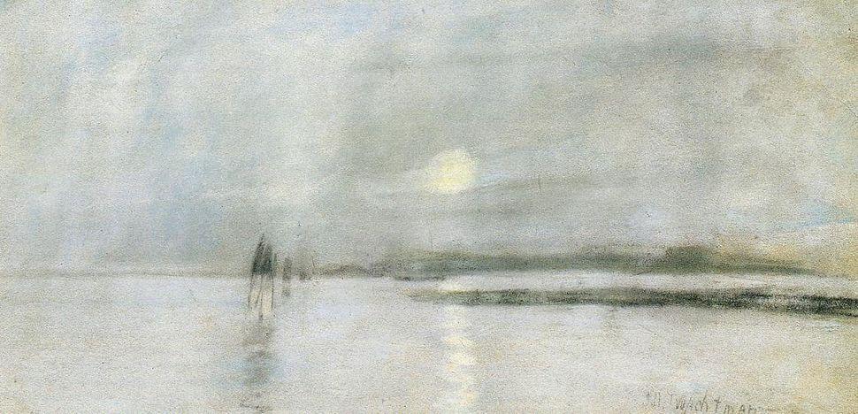 "John Henry Twachtman, ""Moonlight, Flanders,"" 1885"