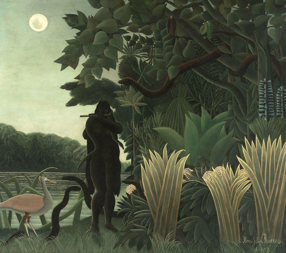 """Henri Rousseau, """"La Encantadora de Serpientes,"""" Museo de Orsay, París, 1907"""
