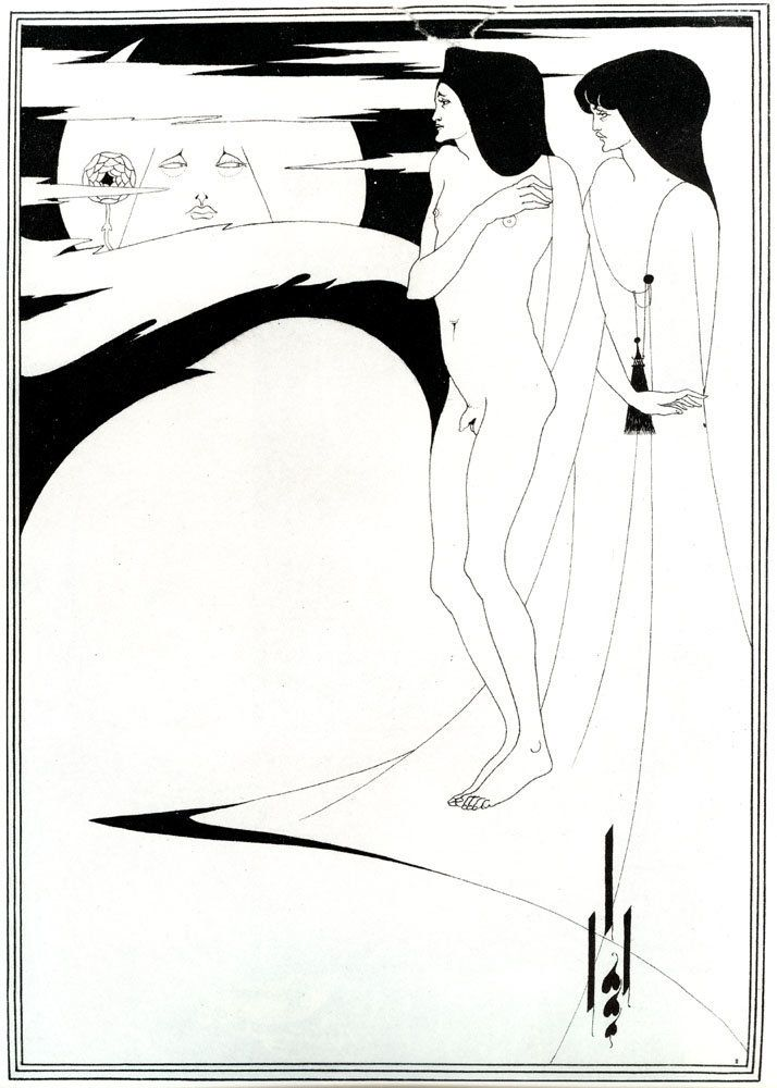 "Aubrey Beardsley, ""The Woman in the Moon,"" 1894"