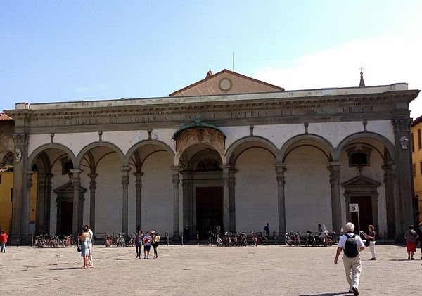 When Leonardo returned to Florence in 1500, he lived in the monastery at Santissima Annunziata, where his father Ser Piero ma