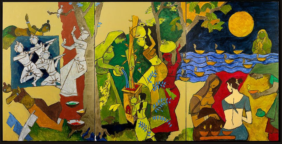 "<strong>What: </strong>M.F. Husain<br> <strong>Where: </strong><a href=""http://www.vam.ac.uk/"" target=""_blank"">Victoria and A"