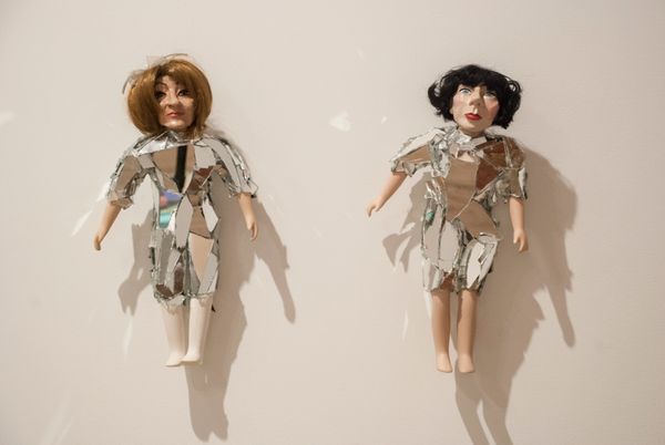 Rachel Mason  Amy Sedaris 2014  polymer clay, acrylic paint, repurposed porcelain doll  bodies, synthetic doll hair, fabric,