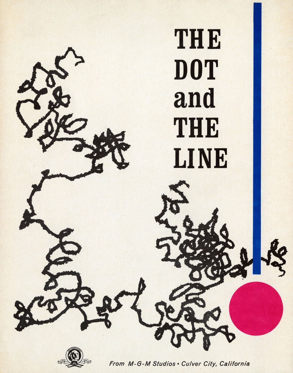 "Cover, marketing booklet for ""The Dot and the Line"" (1965, dir. Chuck Jones), a short film that garnered Chuck Jones an Acade"