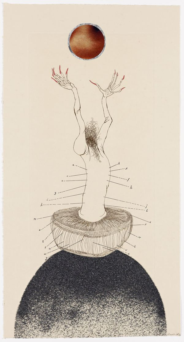 Wangechi Mutu, The Original Nine Daughters (detail), 2012. Series of 9 etchings, Paper size 19 x10 inches each, image size 15