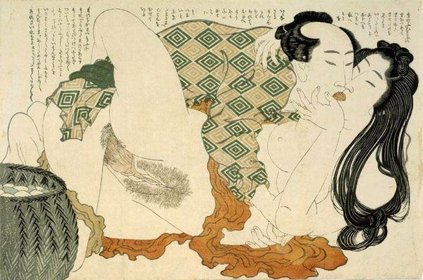 Shunga by Hokusai