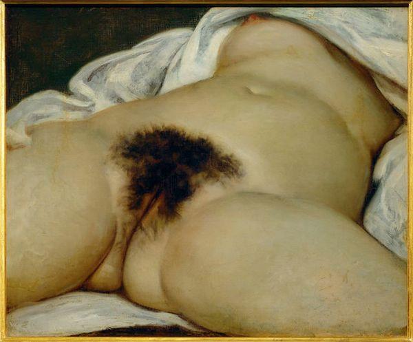 Gustave Courbet, The Origin of the World (L'Origine du monde), 1866, Paris: Musée d'Orsay