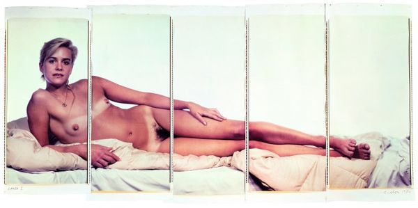 """Chuck Close, Laura I, 1984, color Polaroids mounted on aluminum, 97"""" x 215"""" (243.8 cm x 546.1 cm), overall installed, 97"""" x 4"""