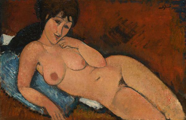 Amedeo Modigliani, Nude on a Blue Cushion, 1917