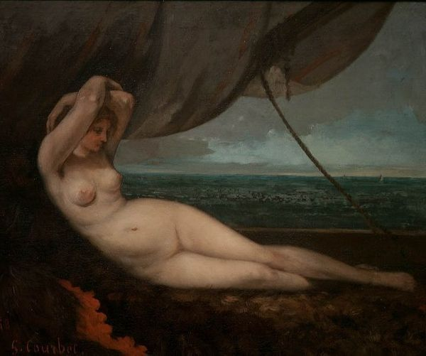 Gustave Courbet, Nude Reclining by the Sea