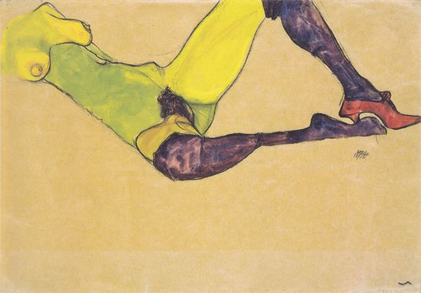 Egon Schiele, Reclining nude, 1910