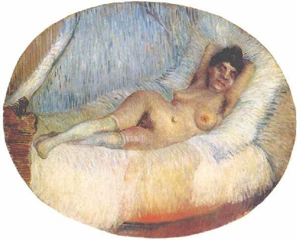 Van Gogh, Nude Woman on a Bed, 1887