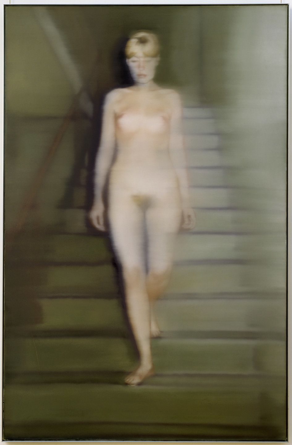 Gerhard Richter, Ema, Akt auf einer Treppe (Ema, Nude on a Staircase), 1966. Oil on canvas
