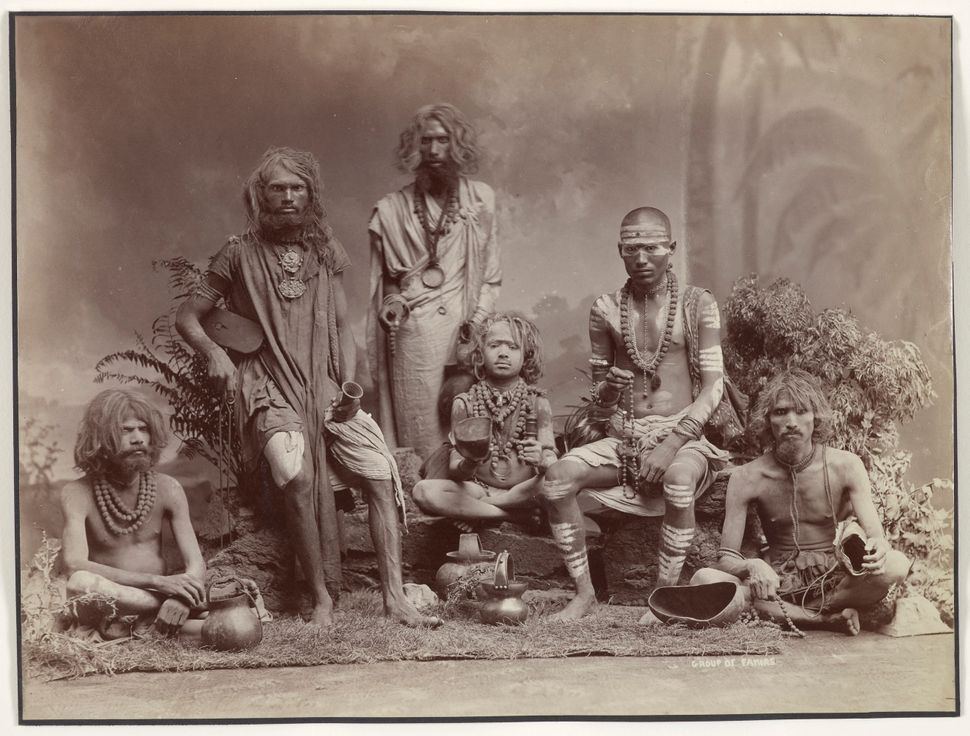 Group of Yogis, c. 1880s. Colin Murray for Bourne & Shepherd. Albumen print; 22.2 x 29.2 cm. Collection of Gloria Katz and Wi