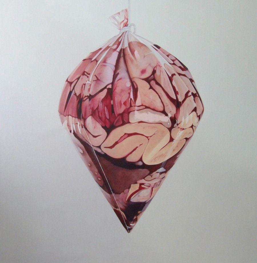 Fábio Magalhães, Sem Título (Retratos Íntimos), Óleo sobre tela, 150x150cm, 2013, Coleção Particular