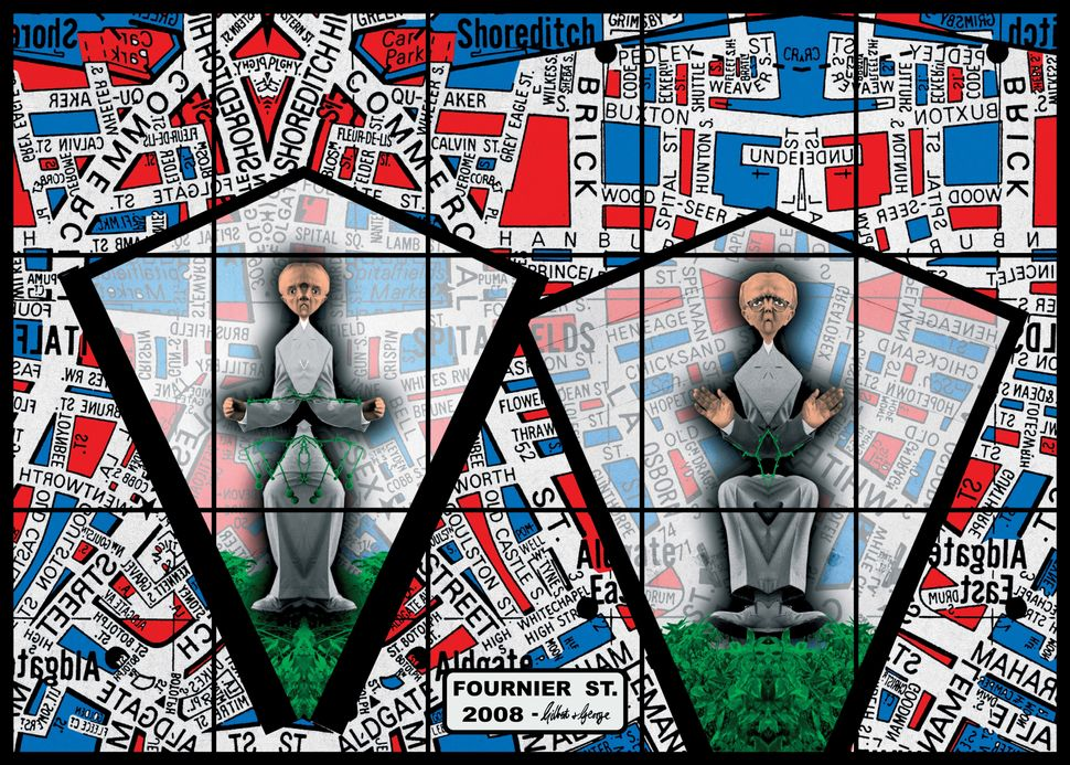 Gilbert & George (artists), Fournier St, 2008, 226 x 317 cm. Image credit: ©Gibert & George. Courtesy of Gilbert & George.