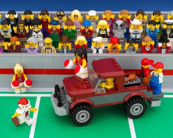 """The rising Crimson Tide washes tailgaters onto the playing field—or so they later claimed to the referee."""