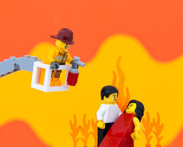 """As it turns out, Rhett Butler and Scarlett O'Hara's passion for one another was easily doused by local firefighters."""