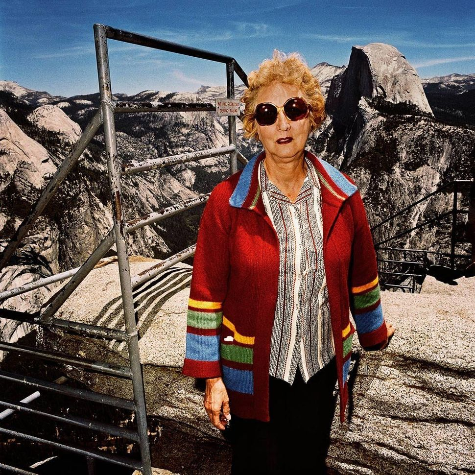 Women with Red Sweater at Glacier Point, Yosemite National Park, CA 1981