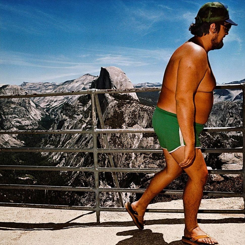 Man at Glacier Point, Yosemite National Park, CA 1980