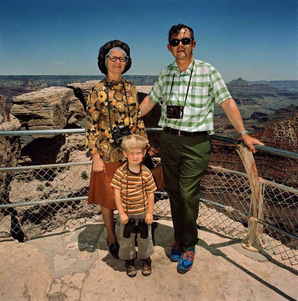 Family in Earth Colors at South Rim, Grand Canyon National Park, AZ 1980