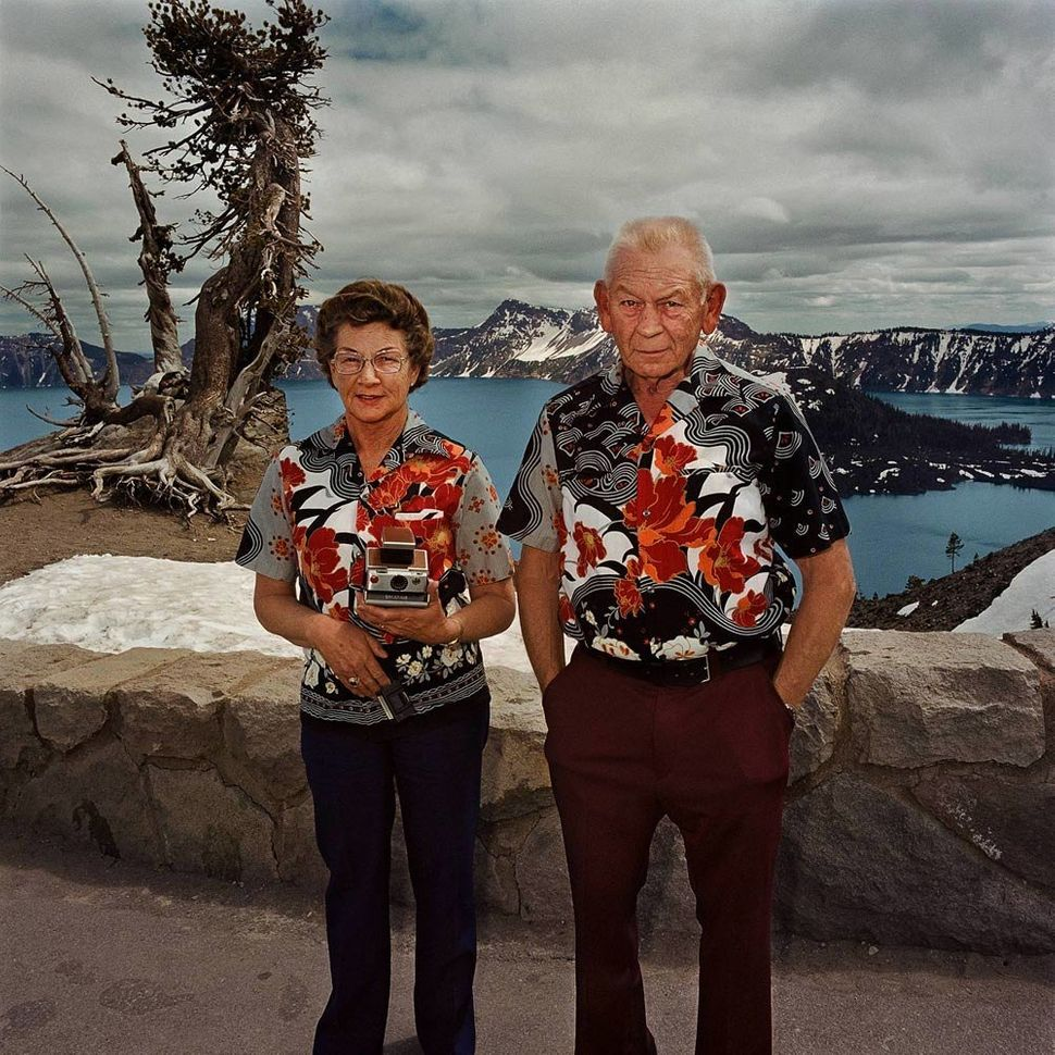 Couple with Matching Shirts, Crater Lake National Park, OR 1980