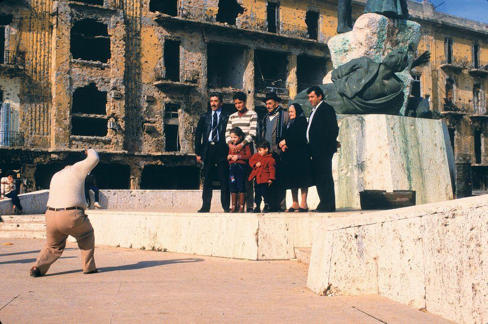 Fouad Elkoury, Color snapshot, Place des Canons (Beirut 1982), 2014. Digital inkjet print, 15 3/4 x 23 5/8 in (40 x 60 cm). C