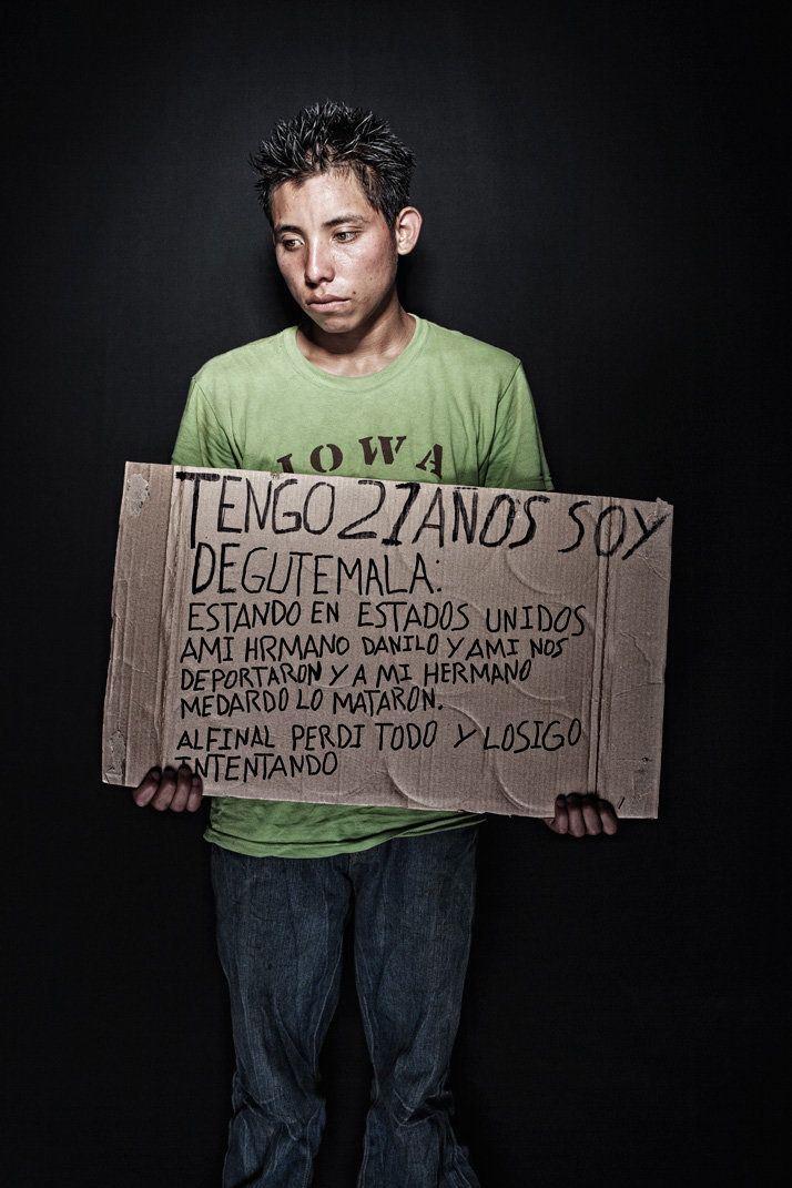 """I'm 21, from Guatemala; while in the U.S. my brother, Danilo, and I were deported, and my brother Medardo was killed. In the"