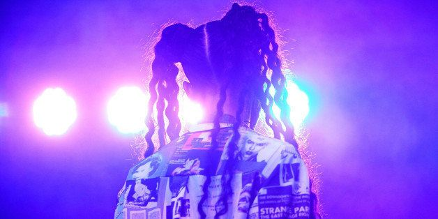 CHICAGO, IL - JULY 19:  Tahliah Barnett aka FKA Twigs performs onstage during 2014 Pitchfork Music Festival at Union Park on