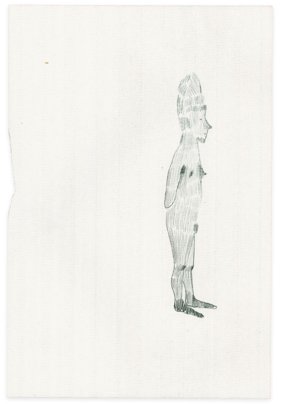 Rosemarie Trockel, I feel something, 1995, Pencil on paper, 31.4 x 21cm, Courtesy the artist and Sprüth Magers.