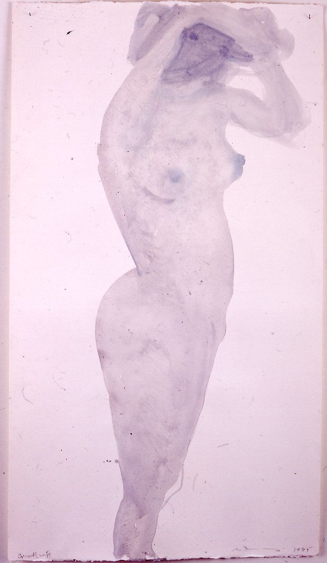 Marlene Dumas, Bonnards wife, 1999, Ink and acrylic on paper. 125 x 70cm, Courtesy the artist Private collection, London.