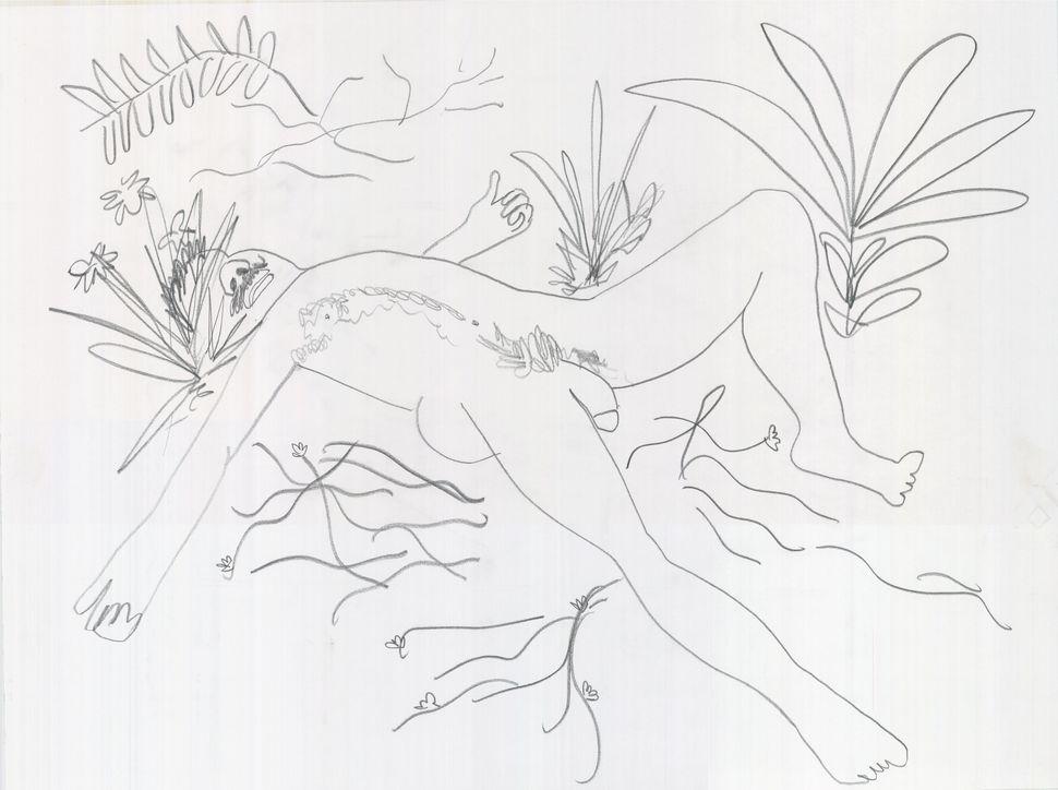 Paul McCarthy, Étant donnés White Snow Walt Paul Drawings, 2013, Pencil on paper, 45.7 x 61cm, (1 of 8 drawings), Courtesy th