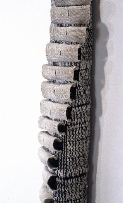"""Carrie Ann Burckle, Spine, 2003,  armature, 63""""x 4""""x3"""""""
