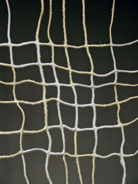 """Jennifer Reifsneider, Slip Grid, 2011, thread, twine, machine-stitching, 93"""" x 35"""""""