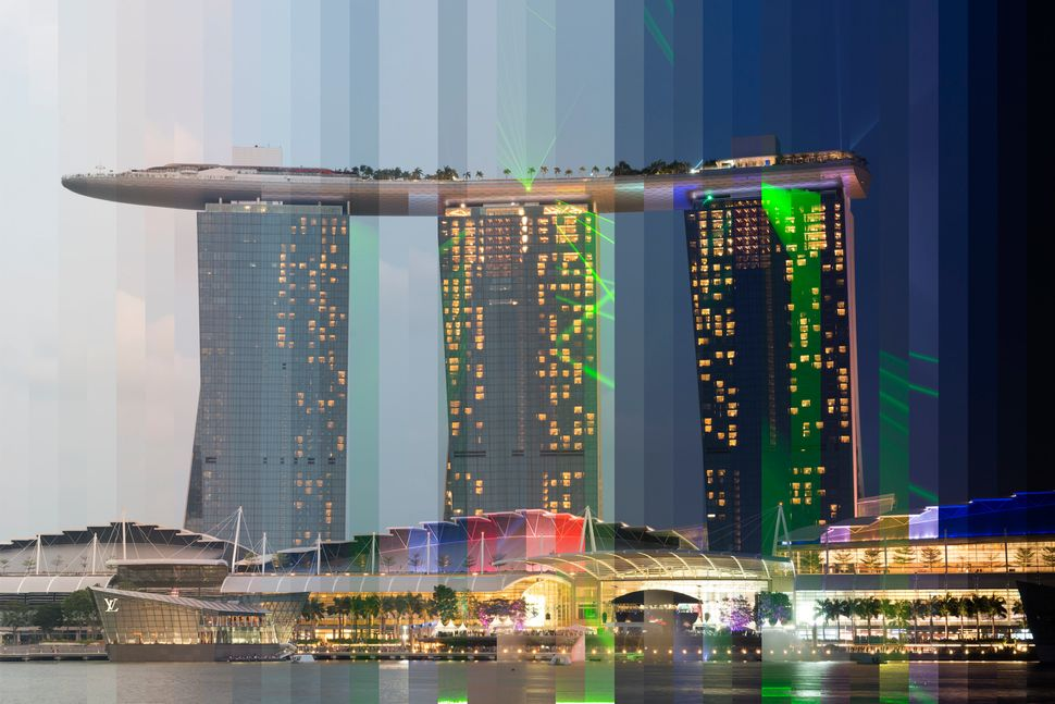 Marina Bay Sands Time Sliced